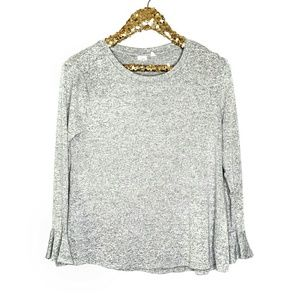 Gap Bell Sleeve Gray Stretch Pullover Top Sweater